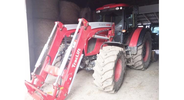 Kolový traktor Zetor Forterra 150 HD + čelní nakladač TL 340 SL
