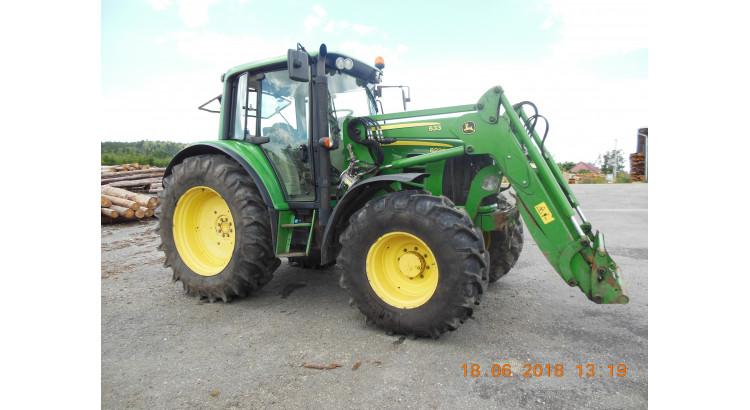 Traktor John Deere 6230 Premium s čelním nakladačem JD 633 a 2,2 m lopatou