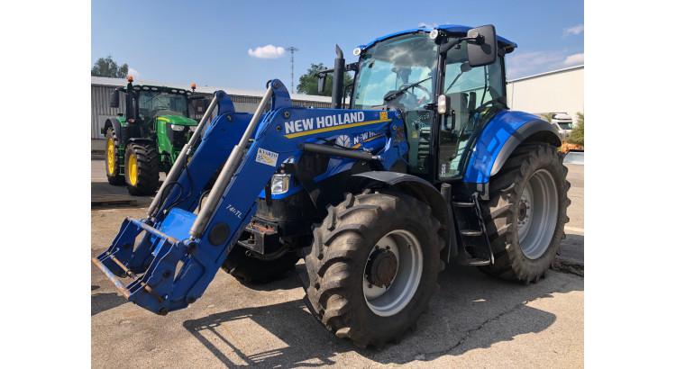 Traktor New HollandT5.115 Electro Command s čelním nakladačem