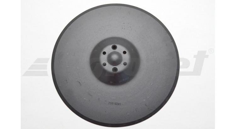 Disk secí bez ložiska, nové provedení