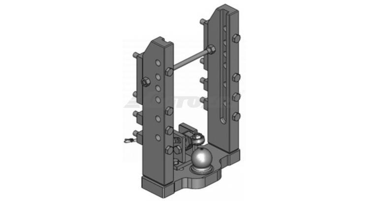 Konzola závěsu 6.poloh s pevnou K80 W=330/32/25 mm