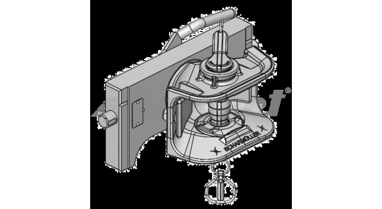 Závěs posuvný W=320 mm - mechanický čep 38 mm