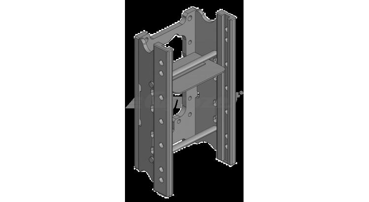 Konzola závěsu 7.poloh W=335/30/22 mm - Case Maxxum MX 150, 170