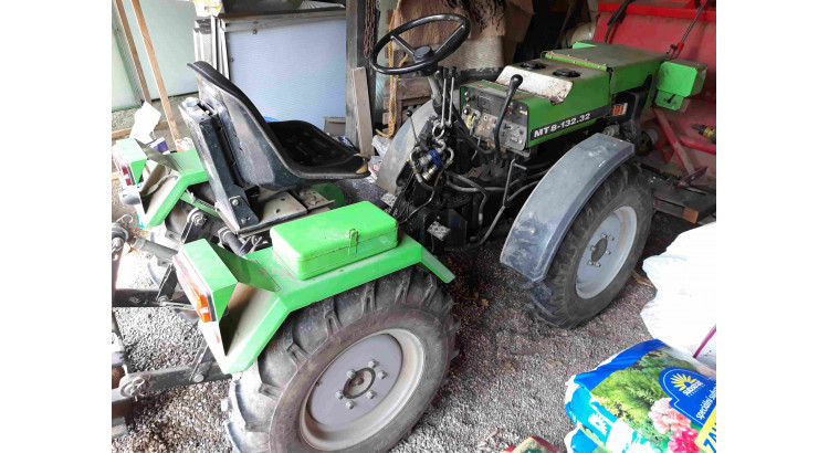 Malotraktor MT8 132-32 + návěs + mulčovač + radlice + kombinátor + pluh