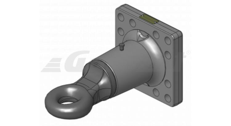 Hlava tažná Scharmüller - LB160x160 ,DIN9678 - pr.50mm - otočné