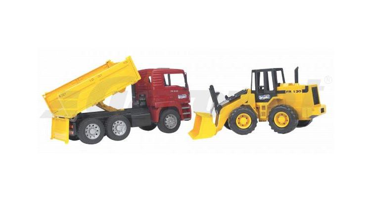 MAN nákladní auto s bagrem Bruder 02752