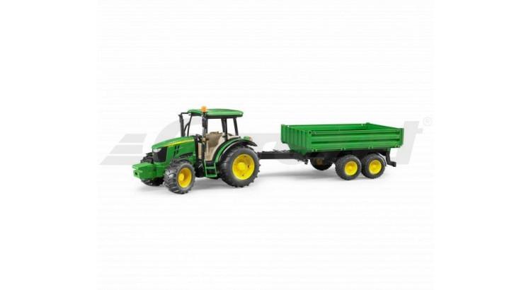 Traktor John Deere 5115 M s valníkem Bruder 2108