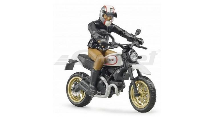 Motocykl Scrambler Ducati Cafe Racer s jezdcem Bruder 63051