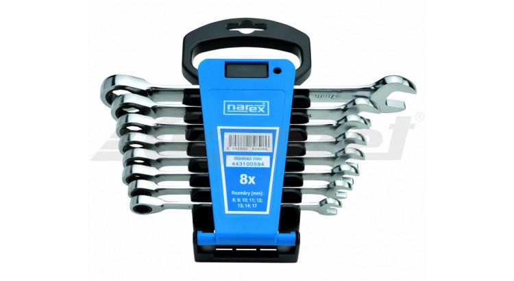 Narex 443100594 Sada klíčů 8dílná ráčnových plast. držák DIN3113