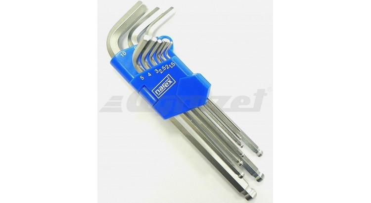Narex 443000883 Sada klíčů 9dílná imbus 710.609K Crv