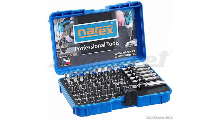 Narex 65404062 Sada bitů INDUSTRIAL-CrV 60dílná 60-Bit Box
