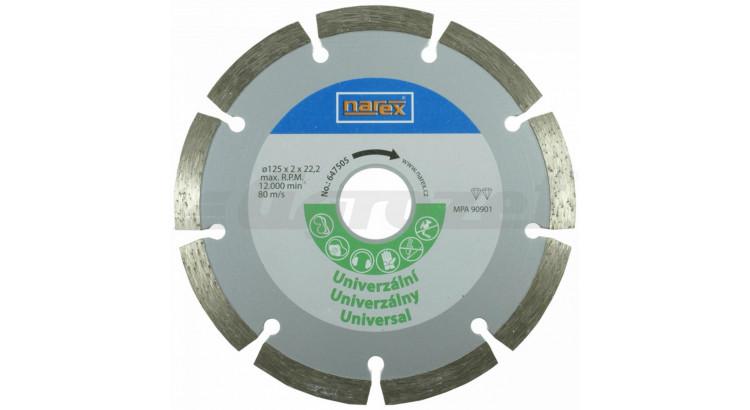 Narex 00647505 Diamantový řezný kotouč - universal sintrovaný Dia 125