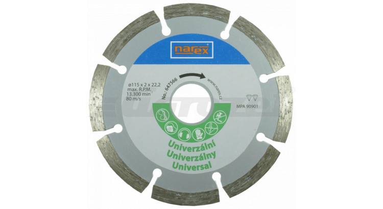 Narex 00647566 Diamantový řezný kotouč - universal sintrovaný Dia 115