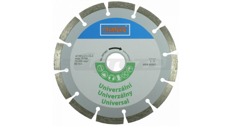 Narex 00647687 Diamantový řezný kotouč - universal sintrovaný Dia 150