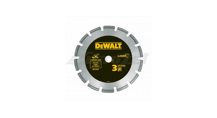DeWALT DT3763 Diamantový kotouč na žulu pro suché řezání 230x22,2mm