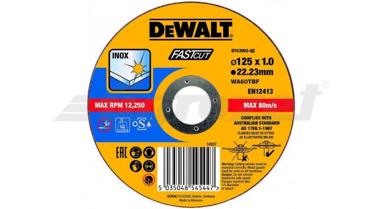 DeWALT DT43902 Řezný kotouč na nerezovou ocel 125X1,0X22,2