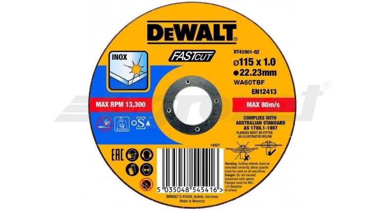 DeWALT DT43901 Řezný kotouč na nerezovou ocel 115X1,0X22,2