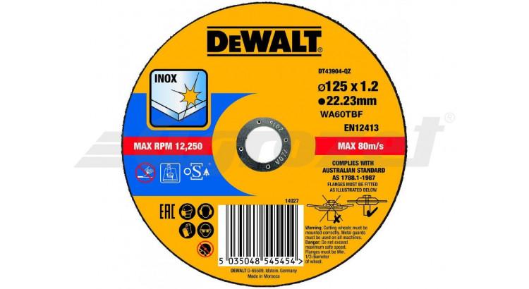 DeWALT DT43904 Řezný kotouč na nerezovou ocel 125X1,2X22,2