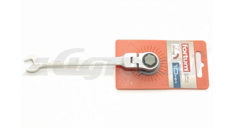 Fortum 4720210 Klíč ráčnový OP s kloubem č.10