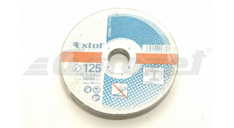 Extol 108020 Kotouč řezný na kov 125x2,5; 5ks