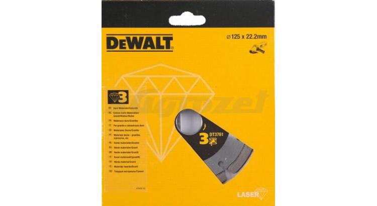 DeWALT DT3761 Diamantový kotouč na žulu pro suché řezání 125x22,2mm