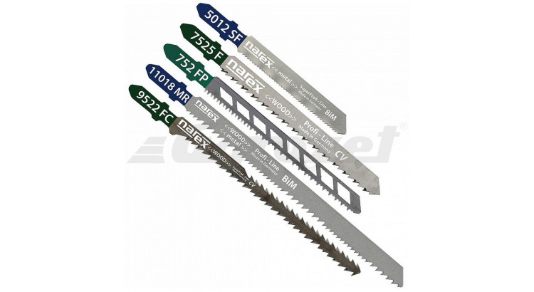 Narex SET SBN 5 pilové plátky  MIX sada - 5ks
