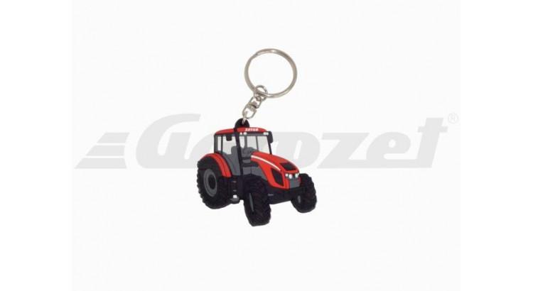 Gumový přívěsek na klíče traktor Zetor