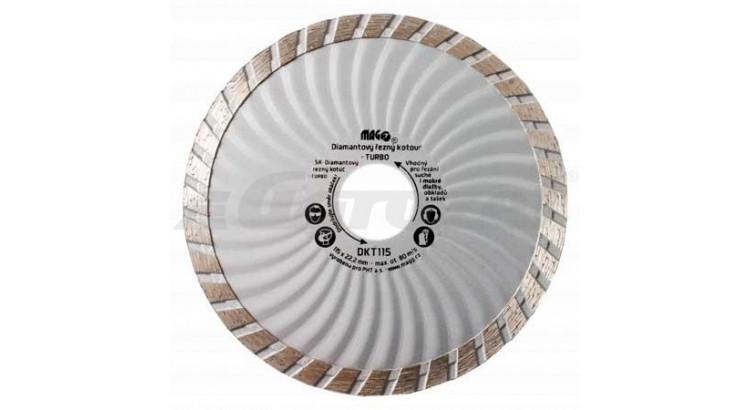 Magg DKT115 Kotouč diamantový TURBO 115x22,2