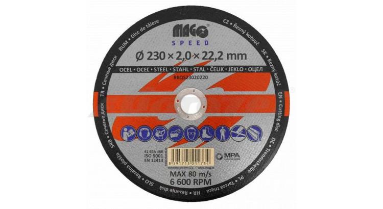 Magg RKQS23020220 Kotouč řezný na kov 220x2,0x22