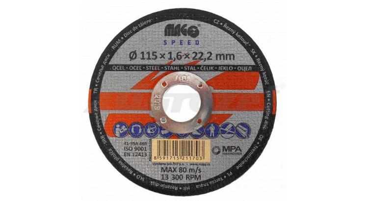 Magg RKQS11515220 Kotouč řezný na kov 115x1,6x22