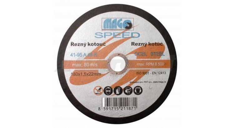 Magg RKQS18015220 Kotouč řezný na kov 180x1,5x22