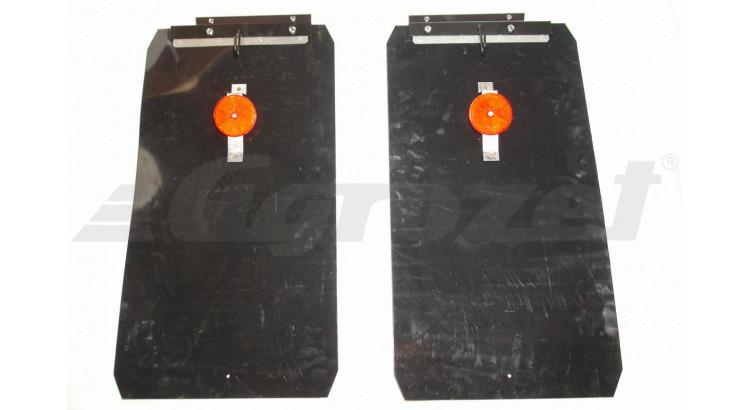 Lapač nečistot s plechem - zástěrka zadní 400x750 - 59117610