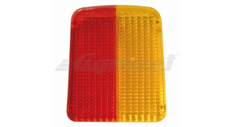Kryt svítilny pravý červený/žlutý