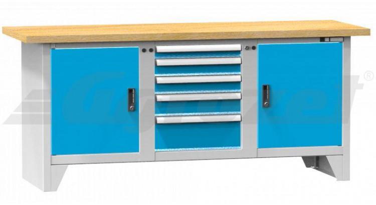 Stůl pracovní modulární 2000x700x40mm buk