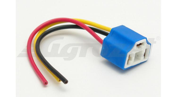 Patice keramická na žárovku H4, komplet s kabely a konektory