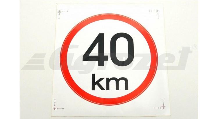 Samolepicí rychlost 40 km
