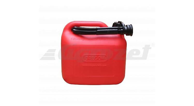 Oregon 42-970E Kanystr červený 5 l PVC PHM