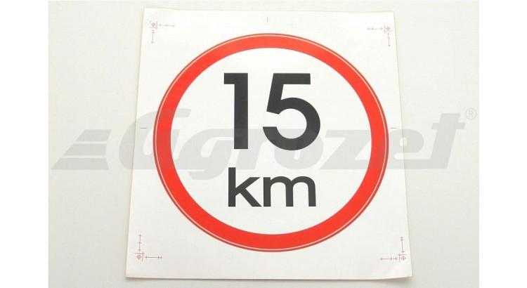 Samolepicí rychlost refl. tř.1 15 km