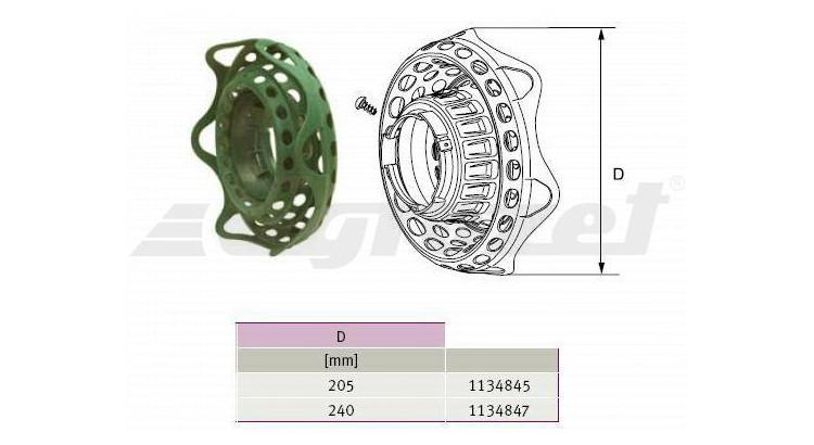 Kryt gumový zelený SDF25/20