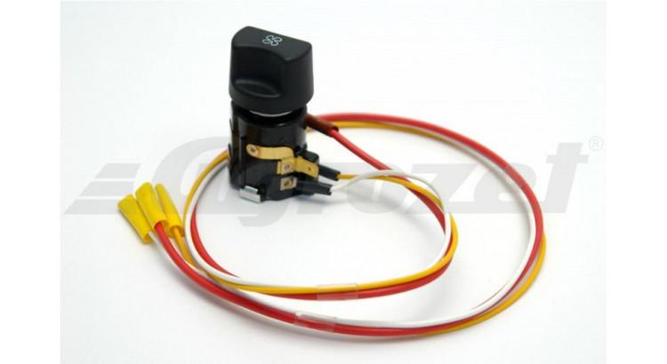 Přepínač ventilátoru topení s kab. svazkem