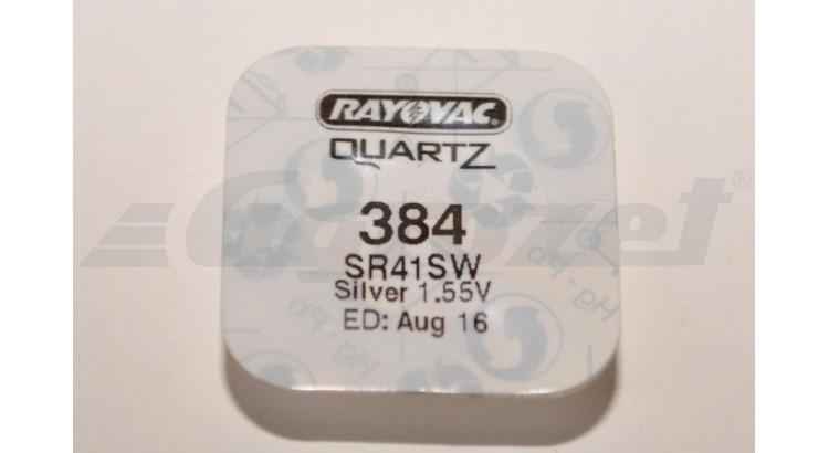 Baterie alkalická knoflíková Rayovac 384 (SR41SW)