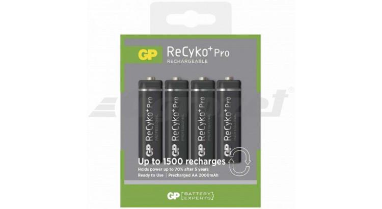 Nabíjecí baterie GP ReCyko+Pro HR6 (AA), 4 ks v blistru