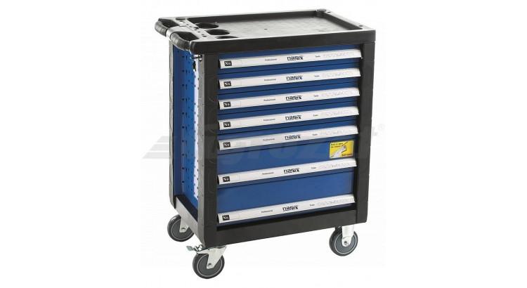 NAREX Montážní skříň pojízdná prázdná 7 zásuvek