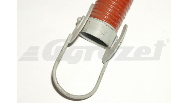 Savice s hákem červená FIRE ELASTIK 2,5 m (105mm/118,4mm)