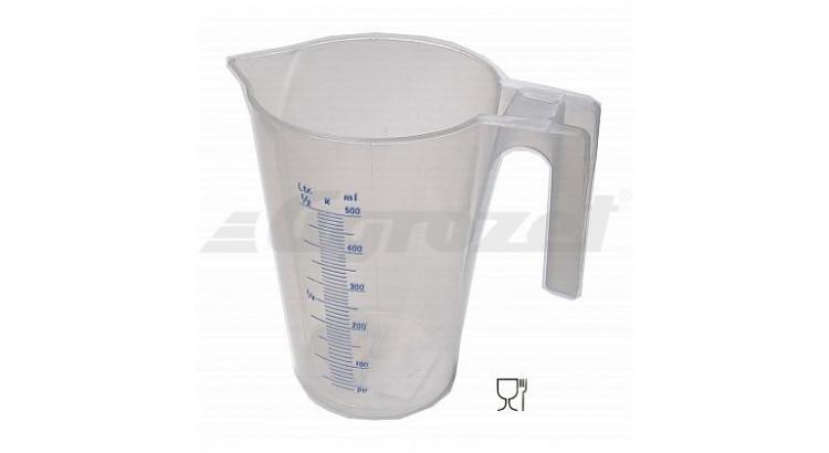 Nádoba odměrná plastová 0,5 l