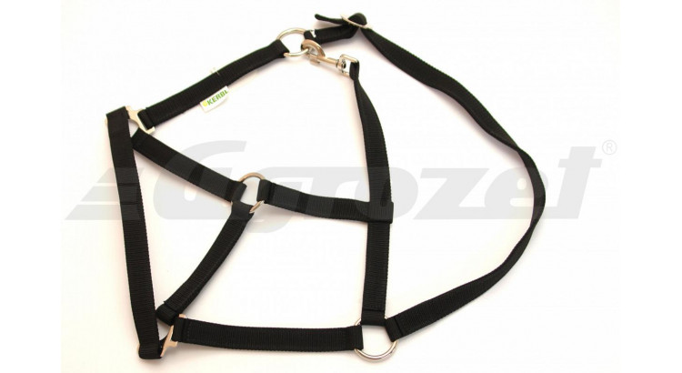 Ohlávka nylonová CLASSIC pro hříbata s popruhy černá vel. 4