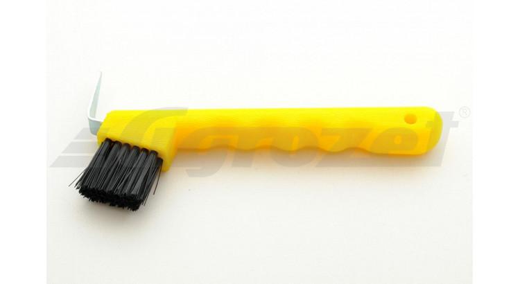 Háček na kopyta z odolného plastu žlutý