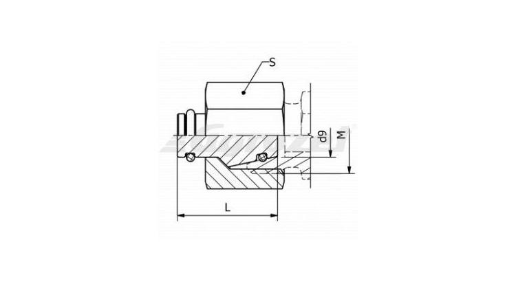 Zátka vnitřní pro kužel 24°  M18x1,5  DIN 3861