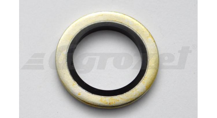 Kroužek těs kov s pryž břitem M14 14,7x22x1,5