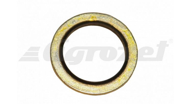 Kroužek USIT ocelový s gumičkou NBR 70 -30°C/+100°C M10 10,7x16x1,5